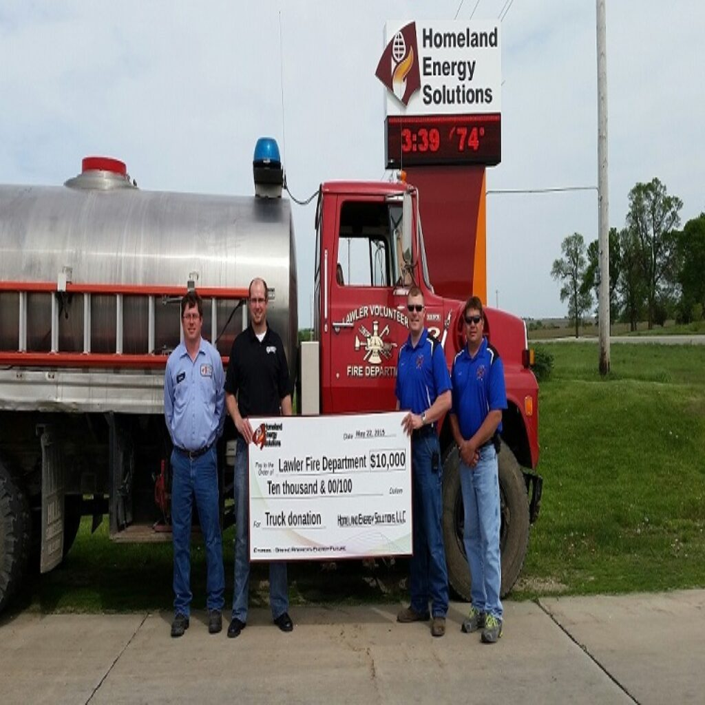 Lawler Fire Department 10,000 Donation